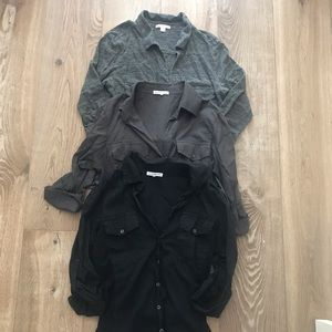 3 James Perse Tops / Size 2